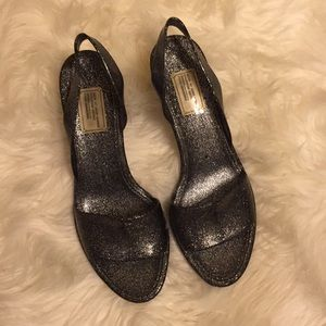 Marc by Marc Jacobs Grey Jelly Sparkle Heels
